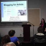 Elaine Luther speaking on Blogging for Artists at Creative Chicago Expo, 2014