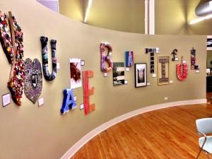 You-Are-Beautiful installation at Flourish Studios