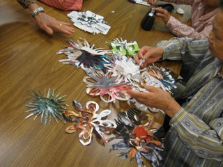 Kirigami at the Chinese American Service League; 20 Neighborhoods through Woman Made Gallery