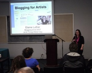 Elaine Luther speaking at Creative Expo Chicago