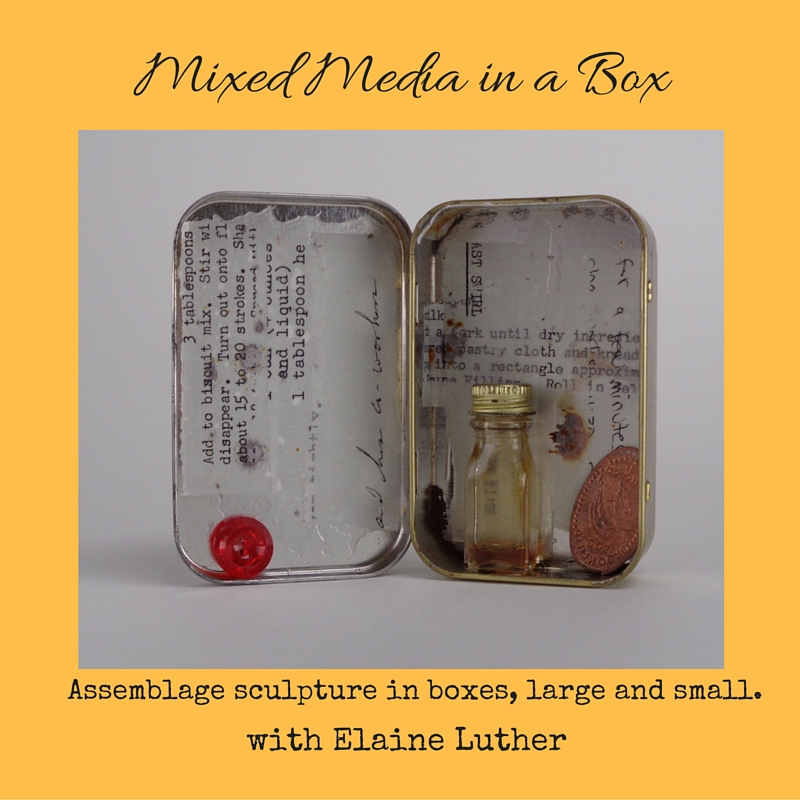 How to Make Mixed Media Art in a Box, Mint Tin or other Container
