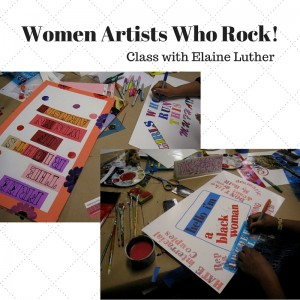 Images of Student Work from the Women Artists Who Rock! class with Elaine Luther