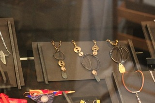 Elaine Luther bronze and steel jewelry at IL Artisans Shop