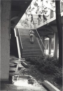 UIC Upper Walkways photo by Pietr Buttelman Copyright 1990
