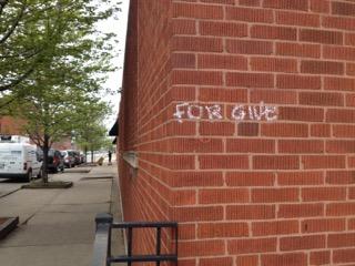 """Forgive"" Street Art"