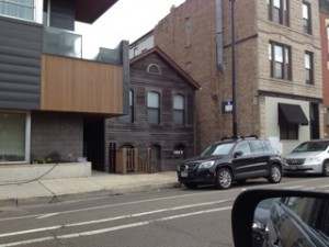 Tiny House Wedged Between Buildings Copyright Elaine Luther