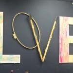 LOVE installation, copyright Elaine Luther 2015, at Zenith Art Studios