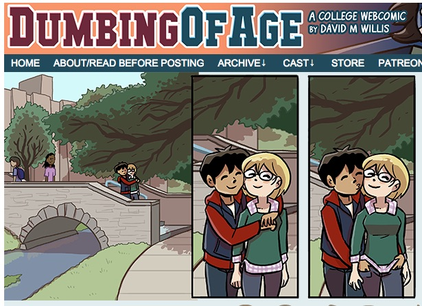 Web Comic about Pockets on Dumbing of Age