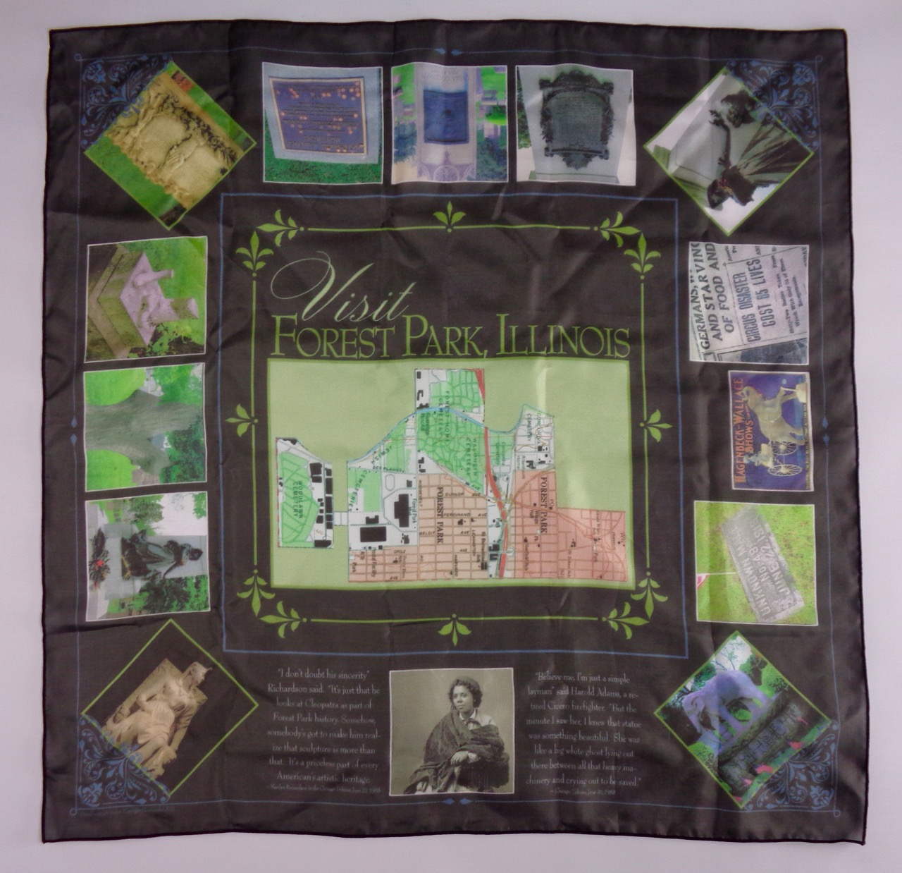 Famous Headstones of Forest Park Scarf by Elaine Luther