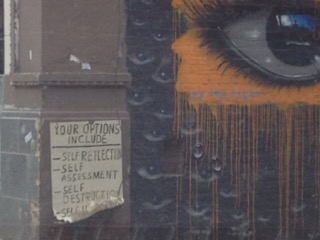 Your Options Include with eye, street art, Chicago, IL