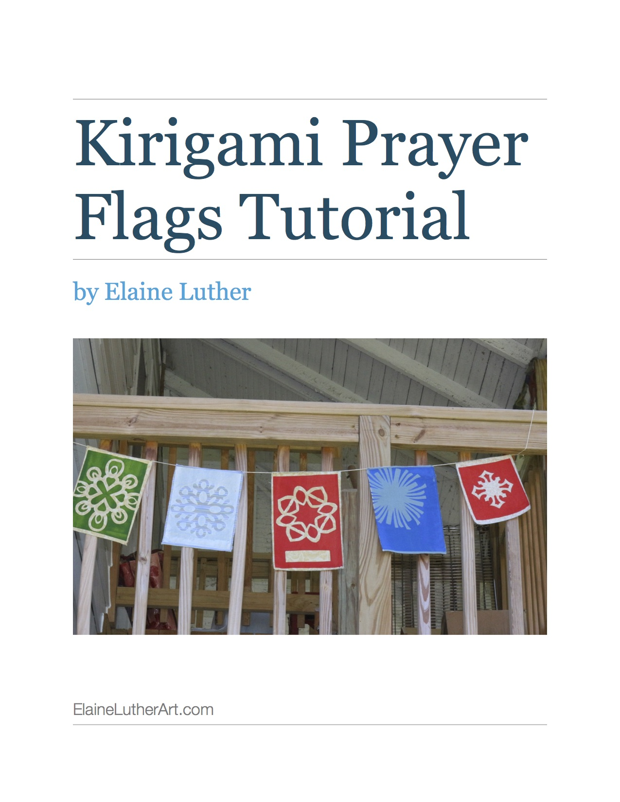 New Tutorial – Kirigami Prayer Flags!