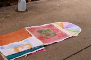 Hopscotch unfolds  2, installation piece by Betsy Zecsek
