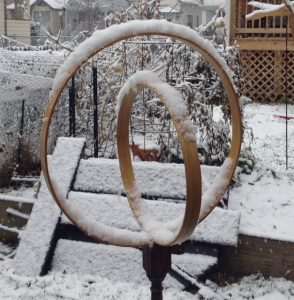 (Sculpture in Snow) Balance and Tension: Scaling Up 2, Copyright Elaine Luther 2016