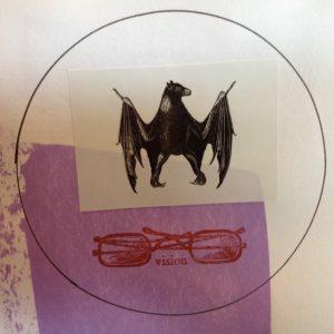 Mandala  Collage Bat Vision