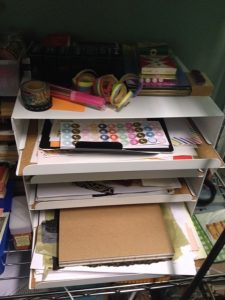 Organizing for Creative Practice / Little white shelf from IKEA