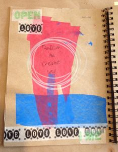 Refilling the creative well, sketchbook page by Elaine Luther