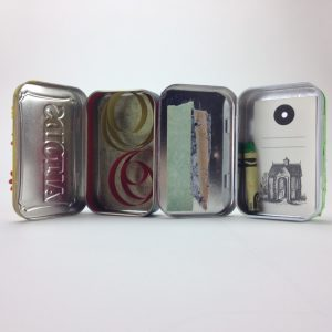 Sample Mint Tins, Insides. By Elaine Luther.