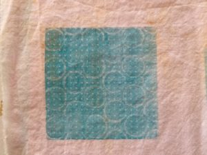 Sample Gelli Print on Fabric