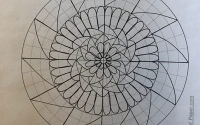Drawing Mandalas, Easy, Fun and Relaxing + Source for Free Printable Graph Paper