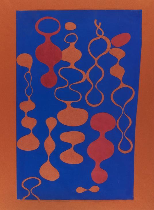 Ruth Asawa cut paper collage, 1946-1949, Collection of Harvard Art Museums.