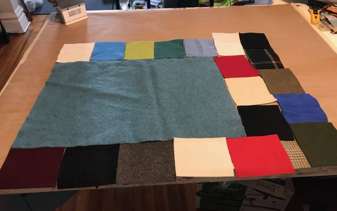 Improv Quilt in Wool, I Made a Wagga!