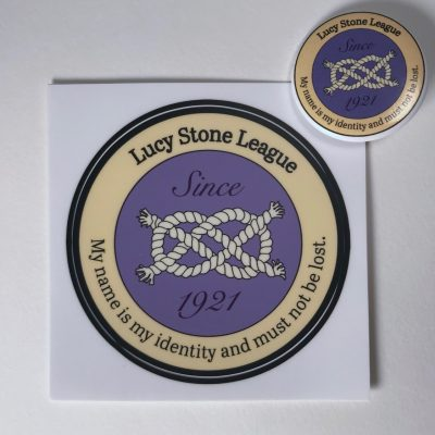 Lucy Stone League Sticker and Button by Elaine Luther