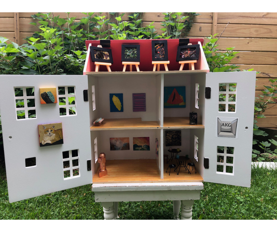 The Angelica Kauffman Dollhouse Art Center by Elaine Luther. Doors open.