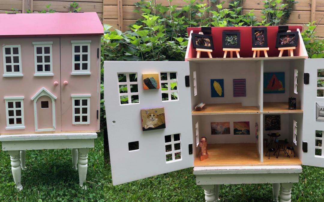 The Angelica Kauffman Dollhouse Art Center!