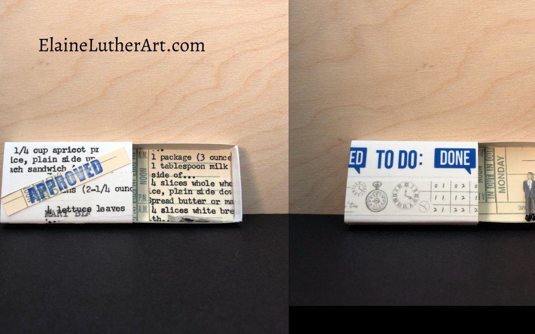 New Art in Matchboxes by Elaine Luther