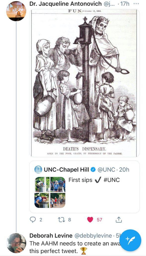 Screenshot of a tweet by Dr. Jacqueline Antonovich, Historian of Medicine.