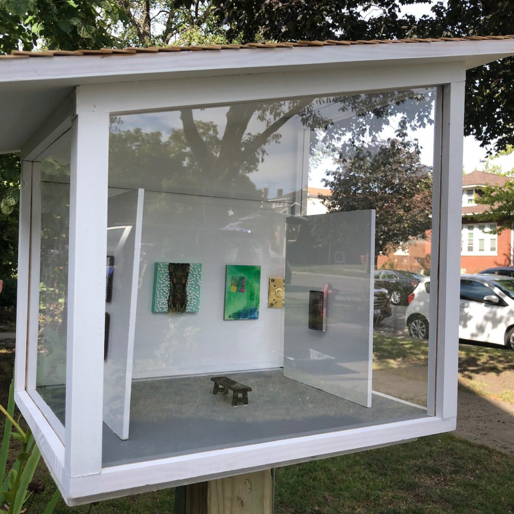 Outdoor Version of Angelica Kauffman Gallery by Elaine Luther. A micro gallery.